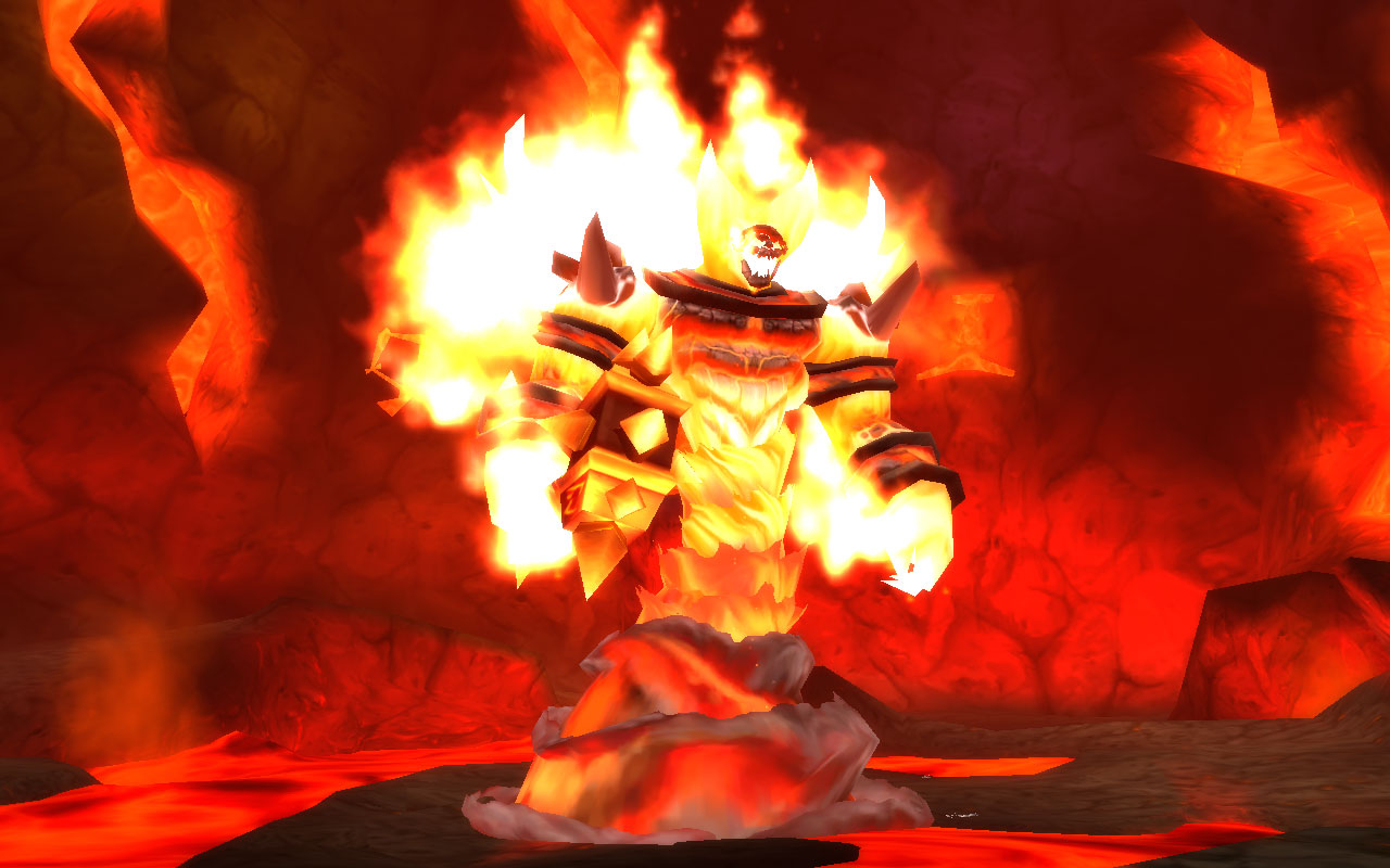 Behold Ragnaros - the Firelord! He who was ancient when this world was young!